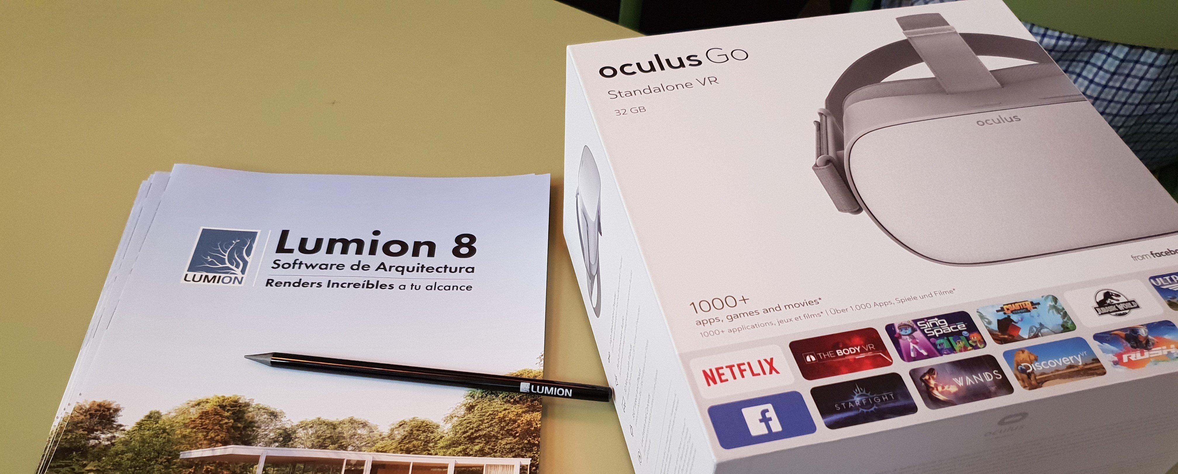 Visualiza los renders en Lumion con Oculus Go y VR