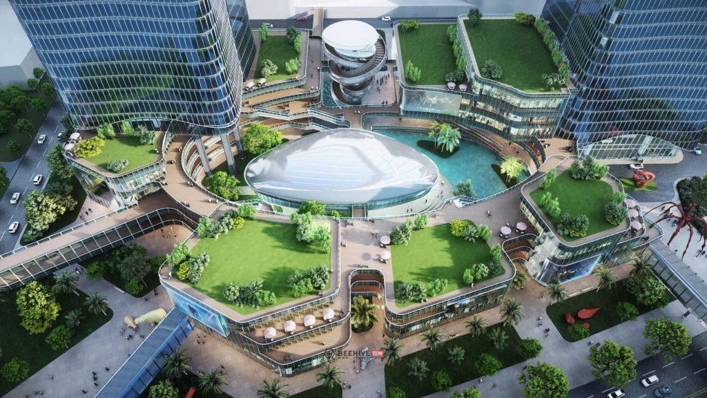 Descubre 'Aedas City' la visualización arquitectónica más grande renderizada con Lumion