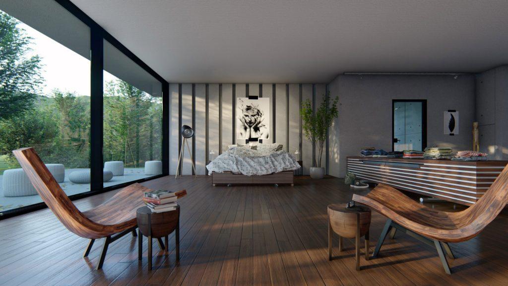 Interior madera sombras