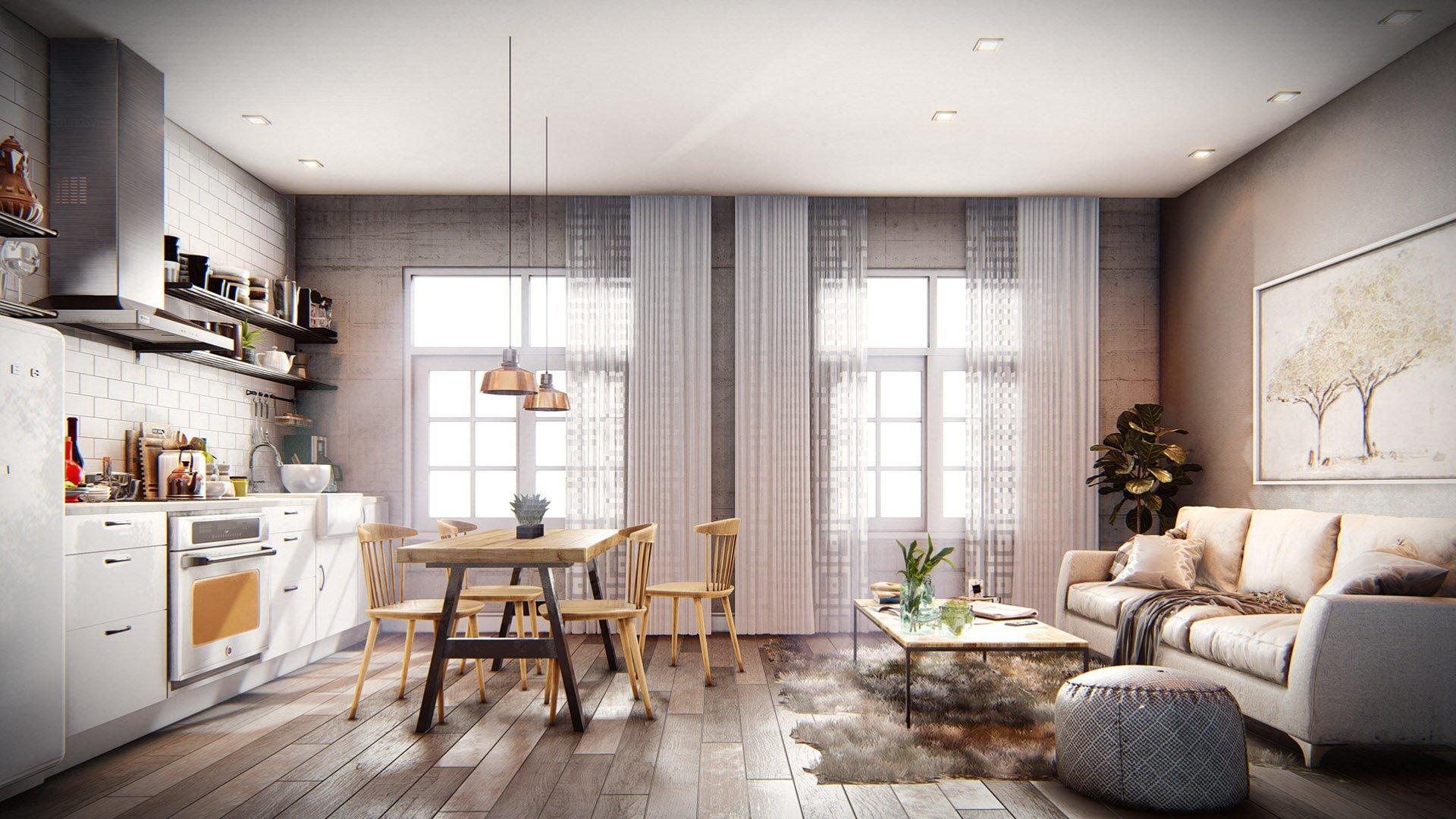 Como hacer render interior revit for Programa para crear espacios interiores
