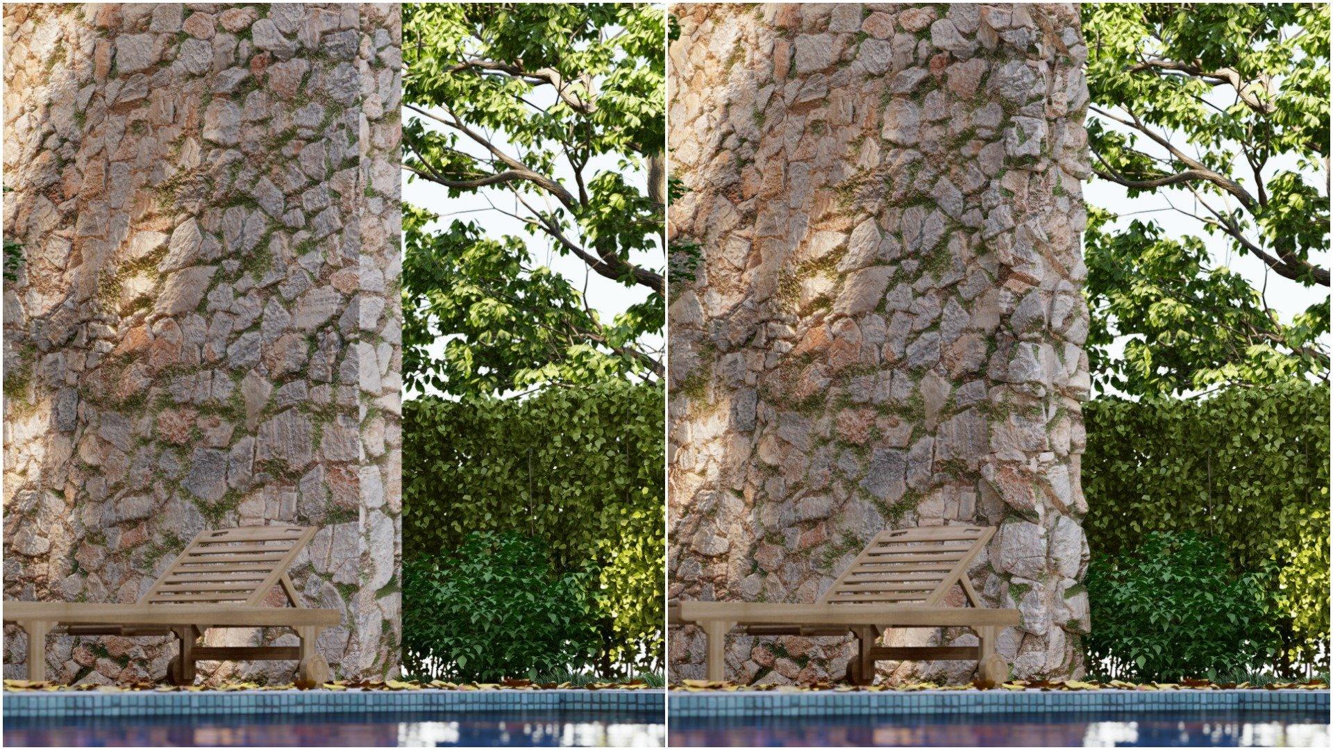 Diferencias con muro modelado y sin modelar
