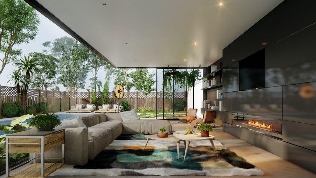 Interior, ejemplo de renderizado más rápido con Lumion